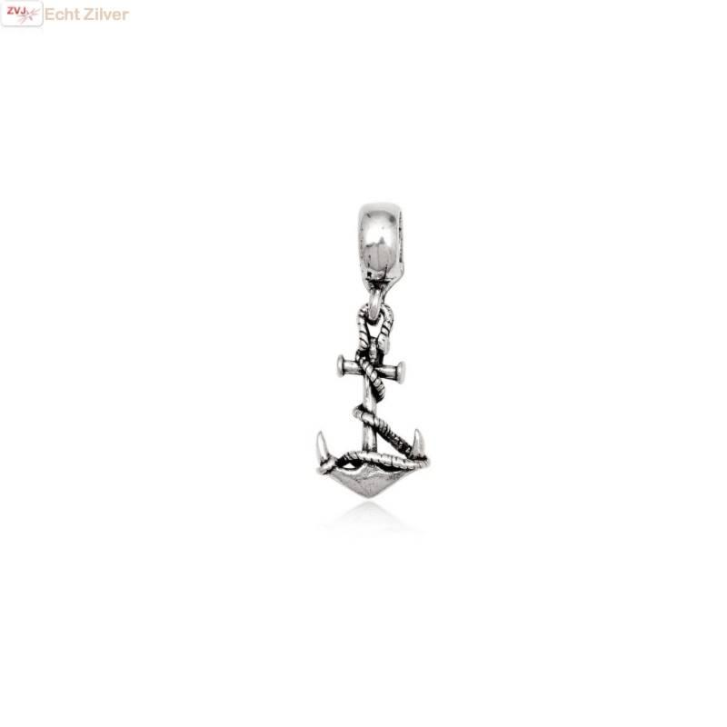 zilveren charm bedel anker-1