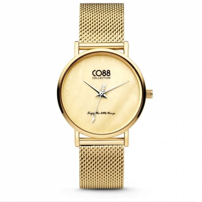 CO88 Collection 8CW-10050 Horloge mesh goud Ø 32 mm