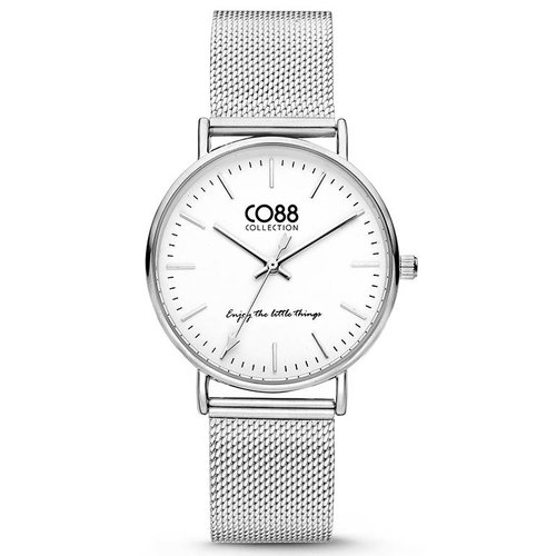CO88 CO88 Collection 8CW-10002 Horloge mesh zilver Ø 36 mm