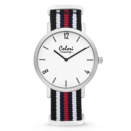 Colori OUTLET Colori Nato Phantom horloge  Ø42 mm rood wit blauw