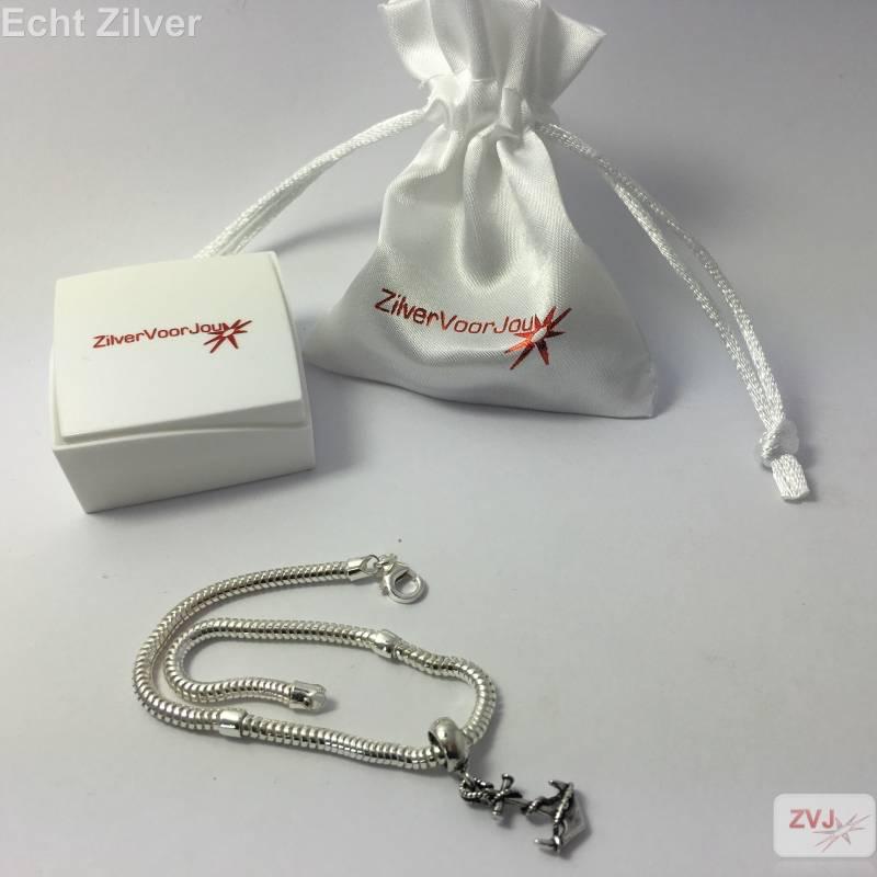 zilveren charm bedel anker-2
