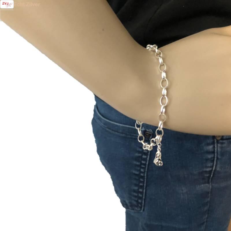 Zilveren moeder kind charm bedeltje hanger-3