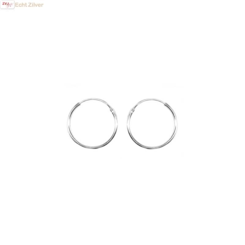 Zilveren creolen oorringen ronde buis 18 x 1.2 mm breed-1