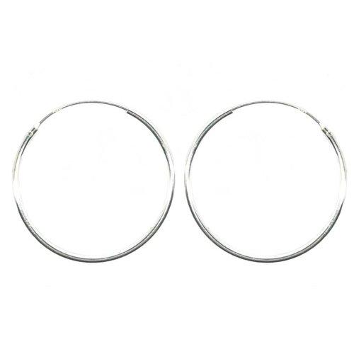 ZilverVoorJou Zilveren creolen oorringen groot 40  mm 1.2 mm breed