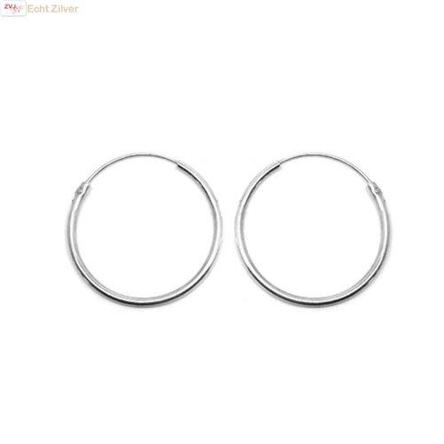ZilverVoorJou Zilveren  creolen oorringen ronde buis 30 x 2 mm breed