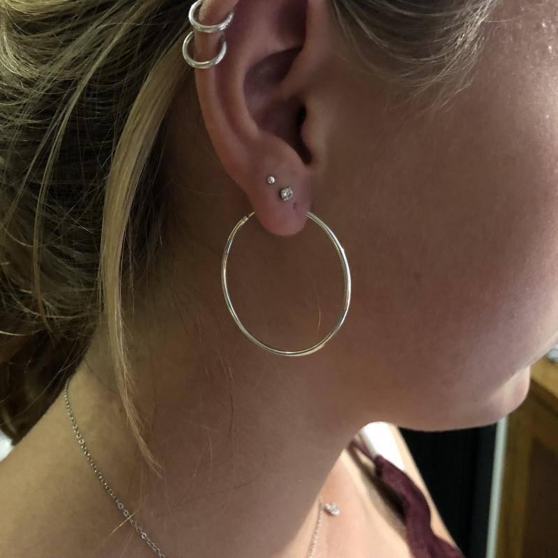 Zilveren creolen oorringen groot 40 mm 1.5 mm breed-2