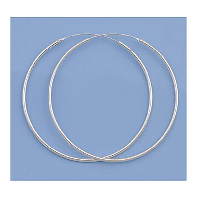 Zilveren creolen oorringen groot 45  mm 1.2 mm breed-3