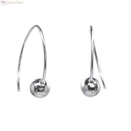 ZilverVoorJou Zilveren gebogen bal hangers