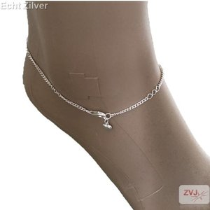 ZilverVoorJou Zilveren enkelbandje met klein hartje enkelketting