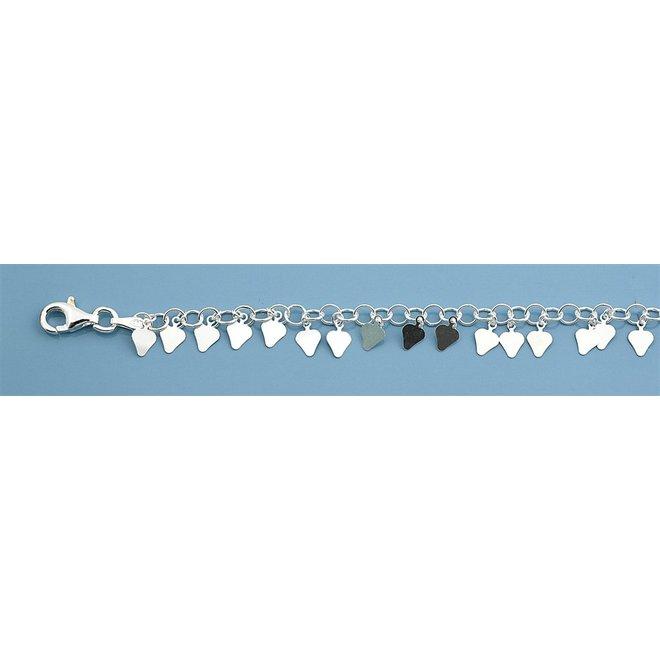 Zilveren ibiza style enkelketting 25 cm