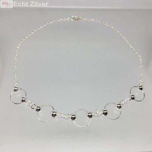 ZilverVoorJou Zilveren cirkel enkelbandje enkelketting