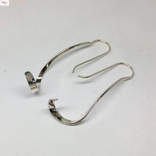ZilverVoorJou Zilveren sierlijk gedraaide design oorhangers