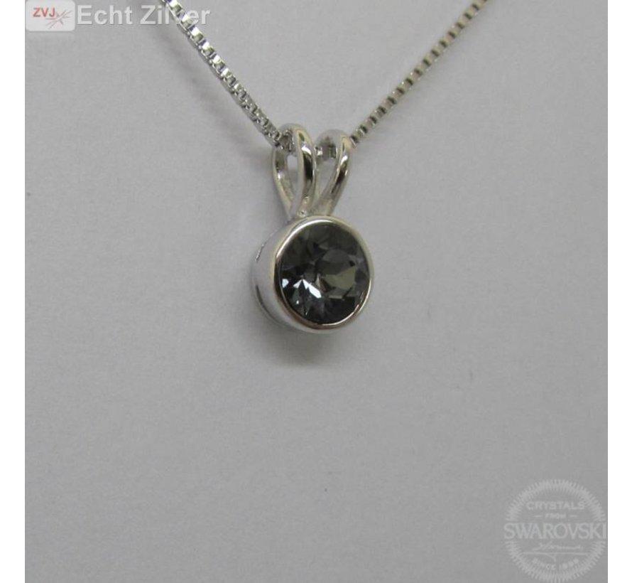 Zilveren Swarovski Silver night collier