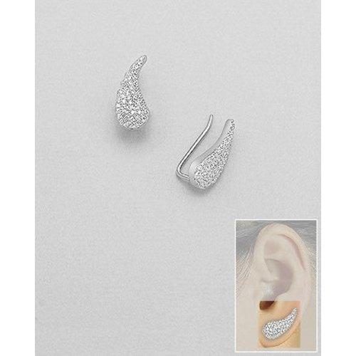ZilverVoorJou Zilveren angel wings ear cuff oor pins