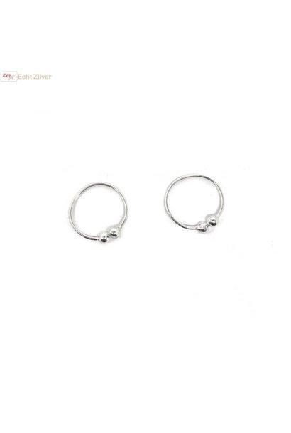 Zilveren mini fijne set oorklemmetje cuffs