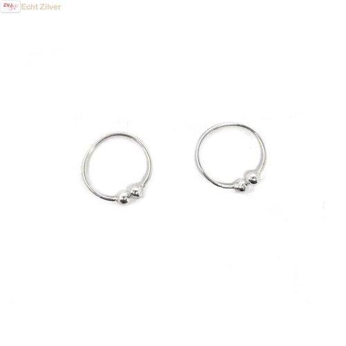 ZilverVoorJou Zilveren mini fijne set oorklemmetje cuffs