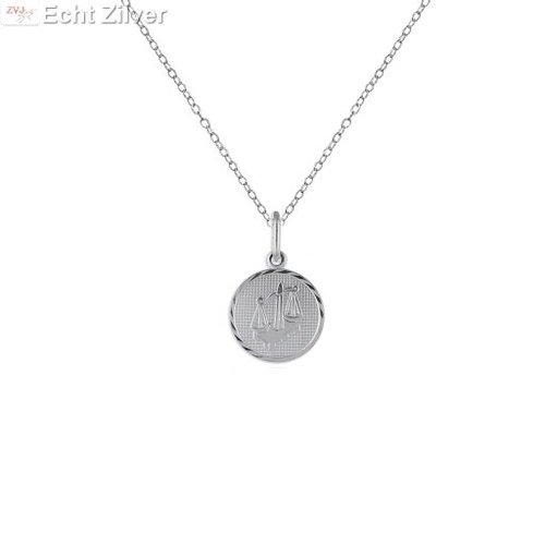 ZilverVoorJou Zilveren collier sterrenbeeld weegschaal