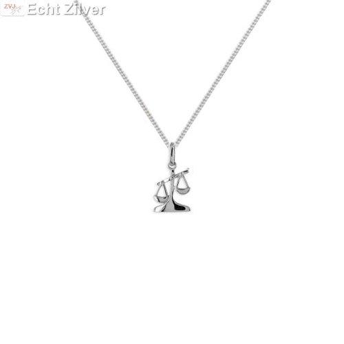 ZilverVoorJou Zilveren sterrenbeeld collier weegschaal