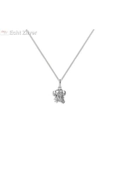 Zilveren sterrenbeeld collier kreeft