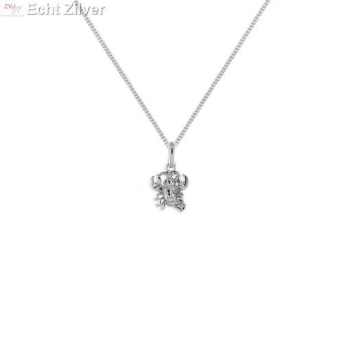 ZilverVoorJou Zilveren sterrenbeeld collier kreeft