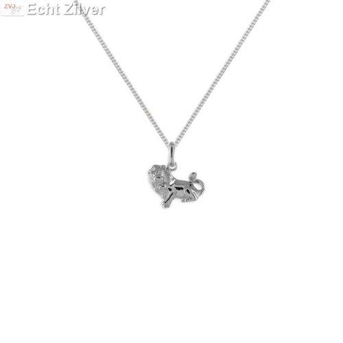 ZilverVoorJou Zilveren sterrenbeeld collier leeuw
