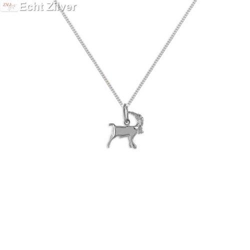 ZilverVoorJou Zilveren sterrenbeeld collier steenbok