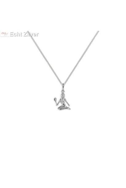 Zilveren sterrenbeeld collier maagd