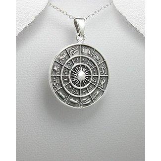 ZilverVoorJou Zilveren zodiac kettinghanger