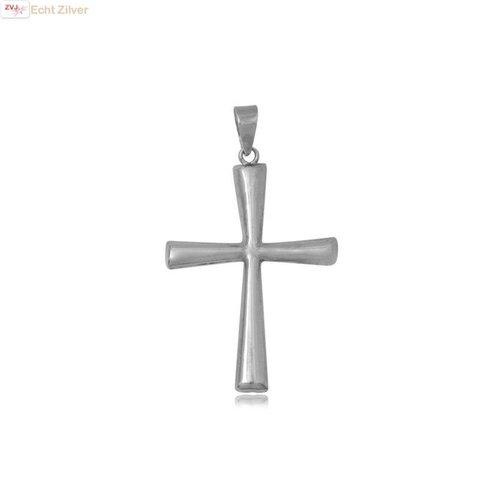 ZilverVoorJou Zilveren groot kruis kettinghanger