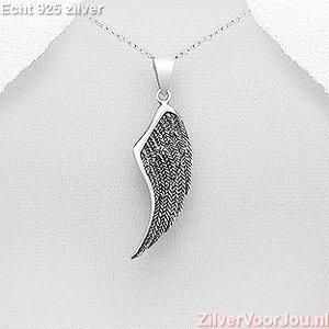 ZilverVoorJou Zilveren prachtige angelwing engel vleugel kettinghanger