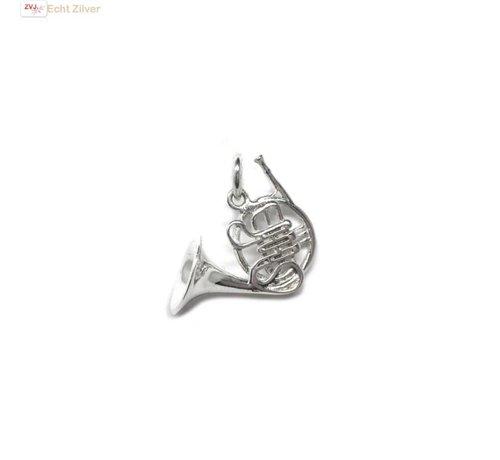 ZilverVoorJou Zilveren hoorn muziekinstrument kettinghanger