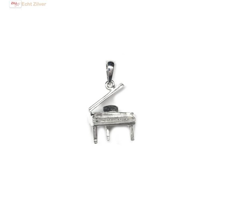 Zilveren piano vleugel muziekinstrument kettinghanger