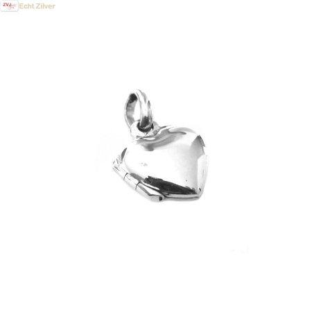 ZilverVoorJou Zilveren klein hart medaillon