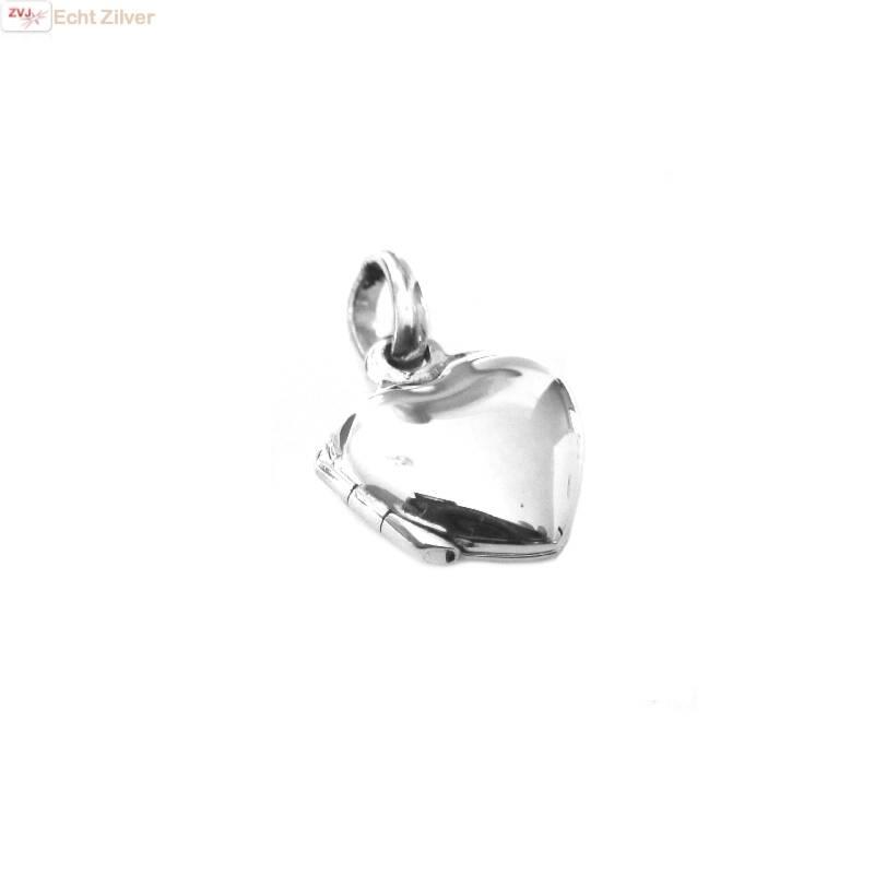 Zilveren klein hart medaillon-1