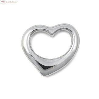 ZilverVoorJou Zilveren design hart kettinghanger