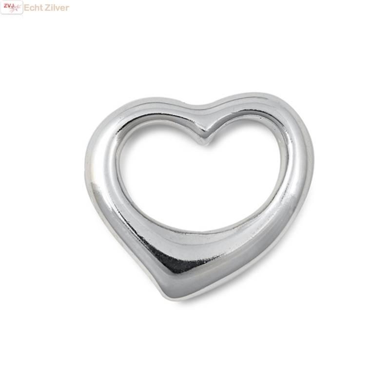 Zilveren design hart kettinghanger-1
