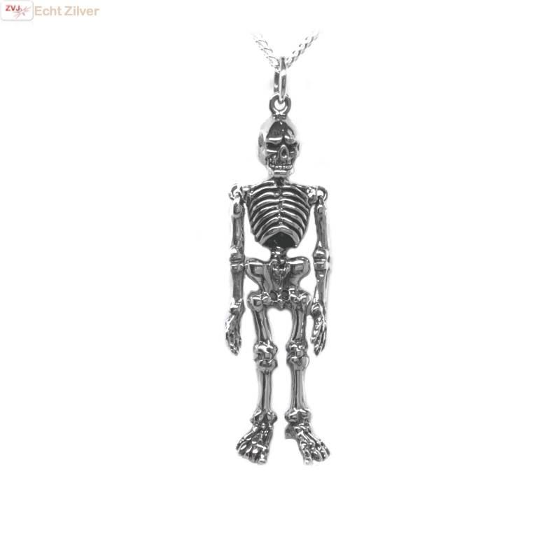 Zilveren skelet hanger-1