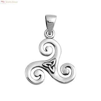 ZilverVoorJou Zilveren  keltische tribal hanger