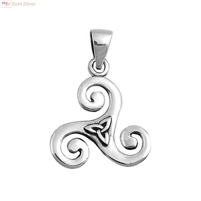 Zilveren  keltische tribal hanger