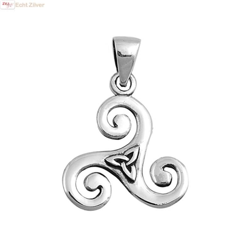 Zilveren  keltische tribal hanger-1