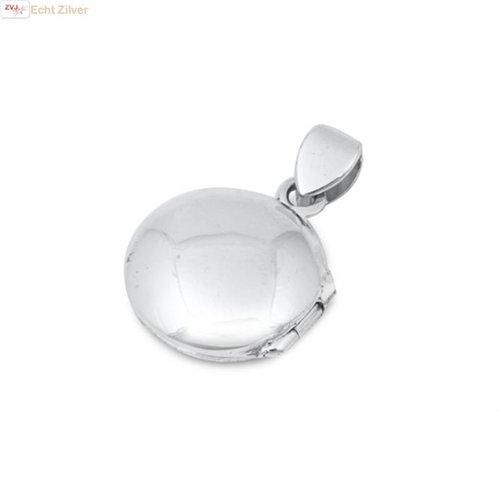 ZilverVoorJou Zilveren ronde medaillon kettinghanger