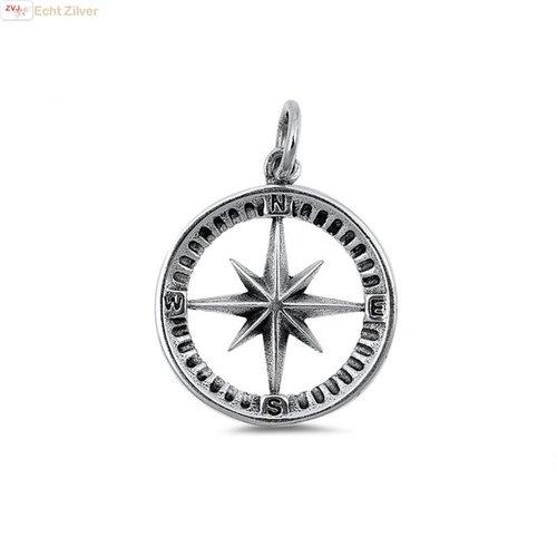ZilverVoorJou Zilveren kompas kettinghanger