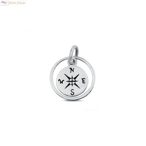 ZilverVoorJou Zilveren kompas hangertje