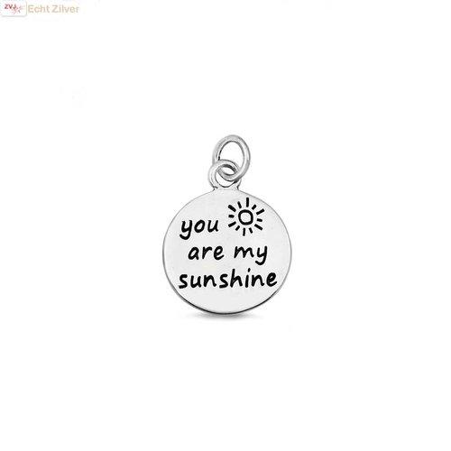 ZilverVoorJou Zilveren You are my sunshine hangertje