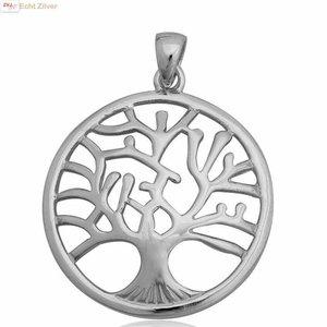 ZilverVoorJou Echt Zilveren tree of life Levensboom Kettinghanger