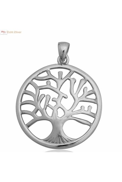 Echt Zilveren tree of life Levensboom Kettinghanger