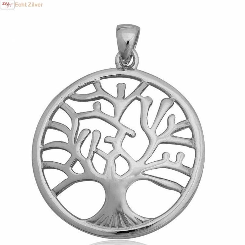Echt Zilveren tree of life Levensboom Kettinghanger-1