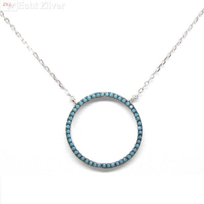 Zilveren Collier Cirkel