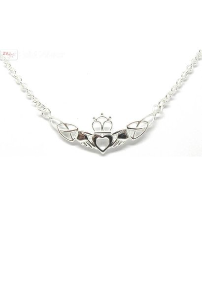 Zilveren Claddagh collier