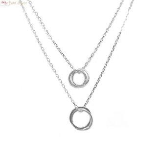 ZilverVoorJou Zilveren vier cirkels layer collier